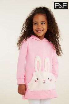 F&F Pink Bunny Sweat Dress