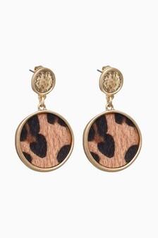 Animal Print Drop Earrings