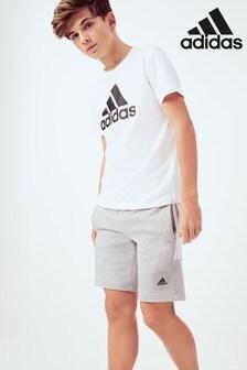adidas Grey Must Have 3 Stripe Shorts