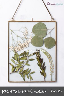 Personalised Pressed Leaf Hanging Frame by Loveabode