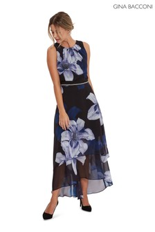 Gina Bacconi Amanda Floral Layered Dress