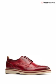 Base London Red Marcello Lace-Up Brogue Shoes