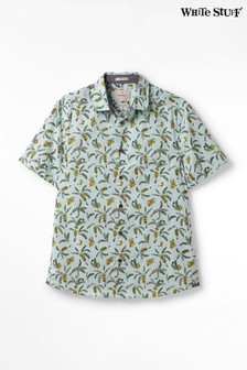 White Stuff Blue Brixom Print Shirt