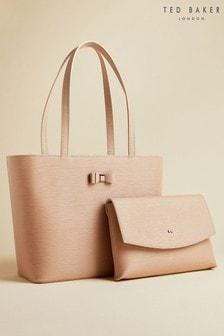 Ted Baker Tan Deannah Bow Detail Shopper Bag