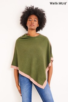 White Stuff Green Phoebe Poncho