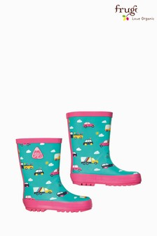 Frugi Aqua Roads Print Welly