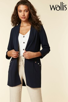 Wallis Navy Scuba Stud Detail Jacket