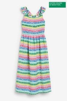 Benetton Rainbow Striped Dress