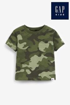 Gap Camouflage Print Short Sleeve T-Shirt