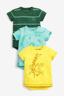 3 Pack Safari Animal T-Shirts (3mths-7yrs)