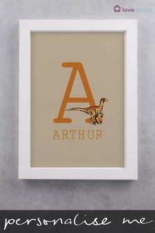 Personalised Alphabet Wall Art by Loveabode