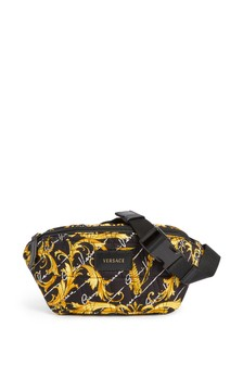 Kids Black & Gold Baroque Belt Bag