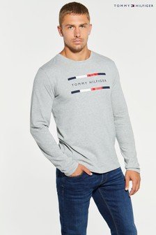 Tommy Hilfiger Grey Corporate Long Sleeve T-Shirt