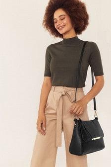 Oasis Black Horizon Satchel Bag