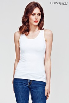 HotSquash White Vest Top