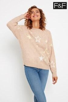 F&F Camel Star Jumper