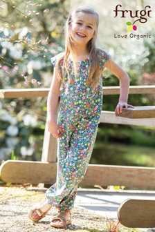 Frugi GOTS Organic Floral Jersey Jumpsuit