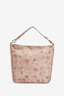Appliqué Detail Hobo Bag