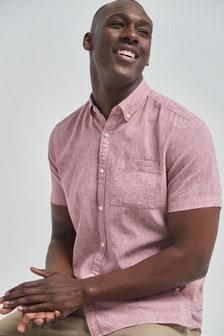 Linen Rich Short Sleeve Shirt