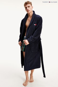 Tommy Hilfiger Blue Towelling Robe