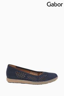 Gabor Blue Pattie Nubuck Casual Shoes