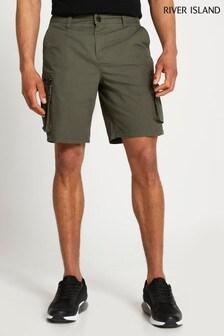 River Island Green Medium Cargo Shorts