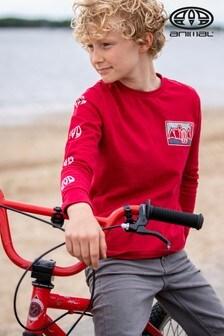 Animal Rio Zeke Langärmeliges T-Shirt, Rot