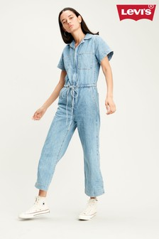 Levi's® Denim Mid Wash Wide Leg Jumpsuit