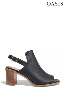 Oasis Black Peep Toe Shoe Boots