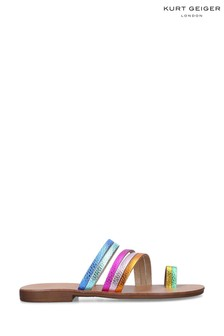 Kurt Geiger London Pink Delilah Rainbow Sandals