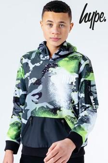 Hype. Mono Camo Green Pullover Hoodie