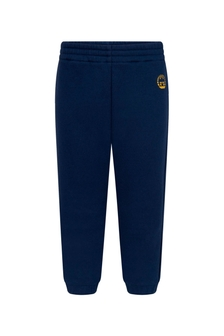 Baby Boys Blue Cotton Joggers