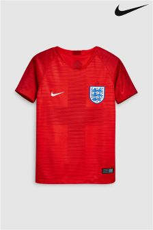 Nike Breathe England Stadium Kids Football Jersey