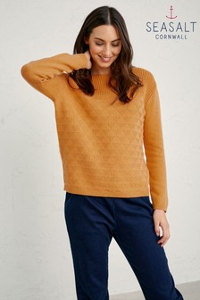Seasalt Orange Sunglow Harbour Beach Jumper