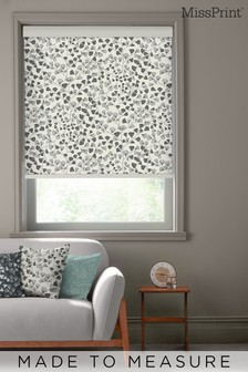 Fern Carbon Black Made To Measure Roller Blind by MissPrint