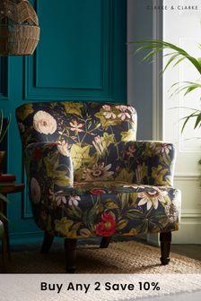 Passiflora Midnight Dalston Chair By Clarke Clarke