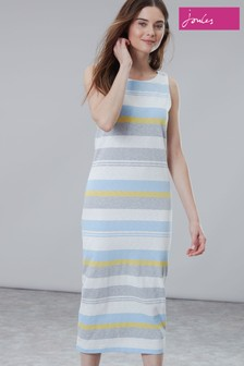 Joules Riva Midi Sleeveless Jersey Dress