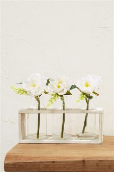 Set of 3 Pretty Roses In Bottles