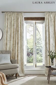 Laura Ashley Dove Grey Pussy Willow Pencil Pleat Curtains