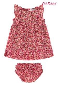 Cath Kidston® Red Baby Frill Bib Burnham Ditsy Dress