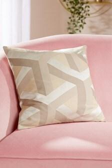 Optical Geo Square Cushion
