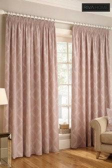 Olivia Pencil Pleat Curtains by Riva Home