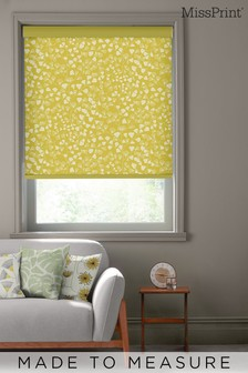 Fern Citrus Yellow Made To Measure Roller Blind by MissPrint