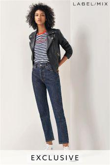 Mix/Anne Bernecker Straight Leg Jean