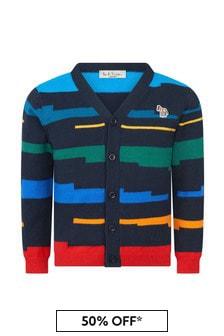 Paul Smith Junior Boys Multicoloured Knitted Cardigan