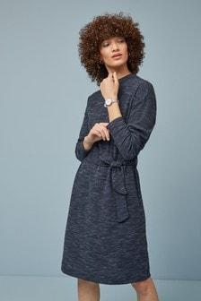 High Neck Long Sleeve Dress