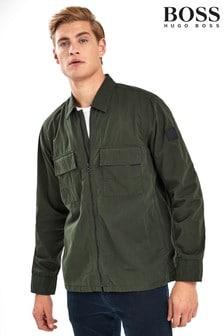 BOSS Green Lovel Zip Twill Overshirt