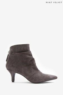 Mint Velvet Grey Julie Kitten Heel Boots