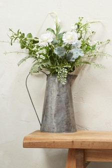 Wild Floral Mix In Galvanised Jug