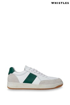 Whistles White Green Stripe Kew Trainers